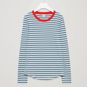 COS Cotton Striped Long Sleeved Top /T-Shirt Small